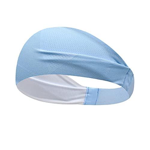 Diadema deportiva ligera y antideslizante, banda elástica para el pelo, unisex, para entrenamiento deportivo y para mujeres y hombres (azul)