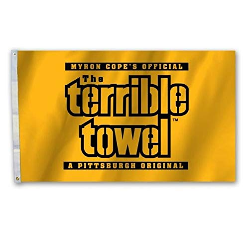 Pittsburgh Steelers TERRIBLE TOWEL Flag 3x5 - With 2 Grommets