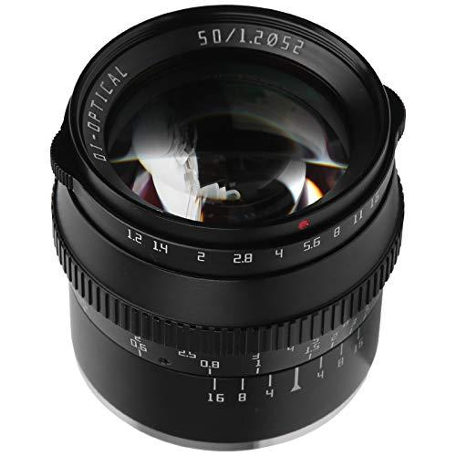 zhuolong Objectif de l'appareil Photo TTArtisan 50 mm F1.2 Objectif à Grande Ouverture à Monture FX pour Appareil Photo Fuji X-T4/X-T3/X-T30/X-S10