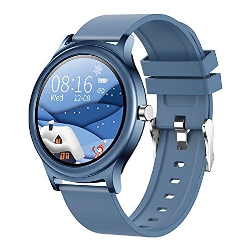 Smartwatch para Hombre Mujer, Reloj Inteligente Impermeable IP67 con Pulsómetro, Control de Musica, Monitor de Sueño, Podómetro Pulsera Smart Watch, Reloj Deportivo per Android iOS,Blue