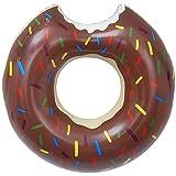 LEZED Flotador Inflable Donuts para Piscina Anillo de Natación Donut Salvavidas de Natación de Donut Verano El Mejor Aire Libre de la Playa Hinchables Juguete para Adultos y Niños (Marrón)