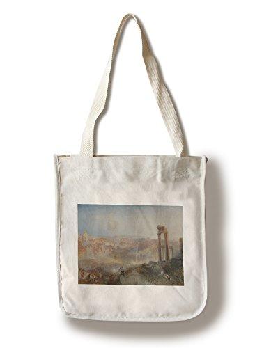 Modern Rome - Campo Vaccino - Masterpiece Classic - Artist: J.M.W. Turner c. 1839 (100% Cotton Tote Bag - Reusable)