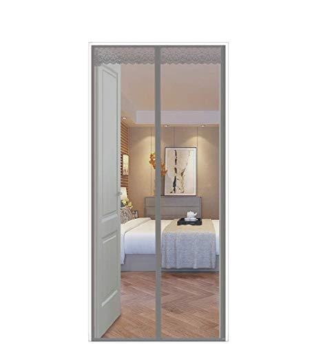 FENG Cortina magnética para protección contra insectos, para puerta de coche, cierre magnético, sin perforación, para puerta de balcón y terraza, gris, 225x185cm
