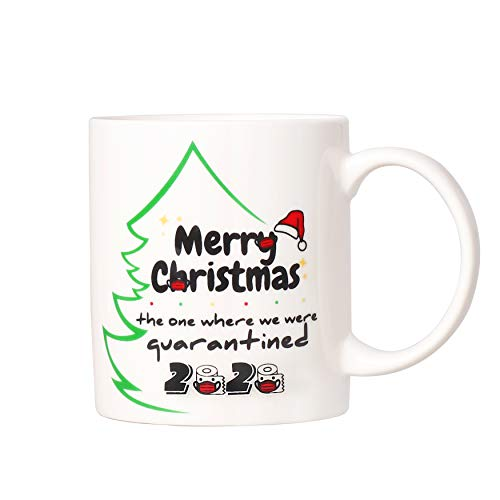 Christmas Mug Gag Gifts Xmas Quarantine Coffee Cup for White Elephant Prank Present Exchange