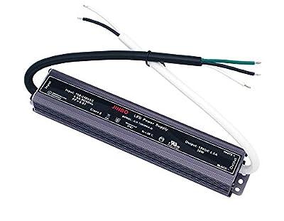 CNBRIGHTER-JINBO 12V DC Power Supply UL Listed, 100V-240V AC to 12V DC LED Low Voltage Transformer,IP 67 Waterproof Converter Constant Voltage LED Driver for Lighting/Strip Light/Modules