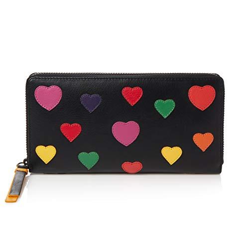 Visconti Twofold Leder Damen Portemonnaie Spectrum Mehrfarbig XL Purse(SP33): (Herz)