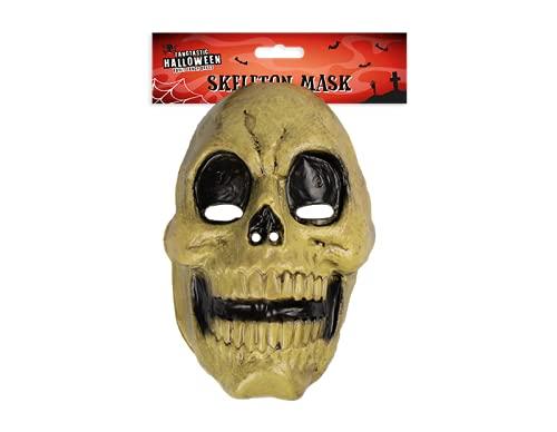 JJA Mascarilla facial, mscara de crneo de cara completa, accesorio de disfraz de tamao adulto, unisex, decoraciones de Halloween (crneo)