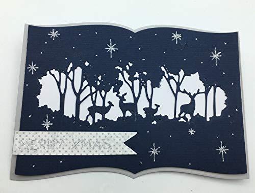 Simplelettering Stanzschablone/Cutting Dies Ausschnitt Rehe Weihnachten geeignet für Big Shot