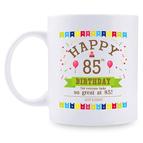 Image of the 85th Birthday Gifts for Women - 1935 Birthday Gifts for Women, 85 Years Old Birthday Gifts Coffee Mug for Mom, Wife, Friend, Sister, Her, Colleague, Coworker - 11oz