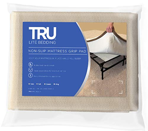 TRU Lite Bedding Non Slip Mattress Pad - Grip Pad Locks in Place - Non Slip...