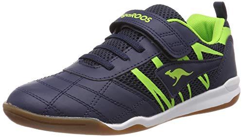 KangaROOS Unisex-Kinder Court Comb EV Sneaker, Blau (Dk Navy/Lime 4054), 31 EU