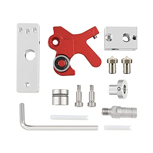 For Tpu Flexible Filament,3D Printer Parts Extruder Retrofit Kit TPU Flexible Filament Short Range Extruder for ABS/PLA/PETG/Soft 1.75mm Consumables