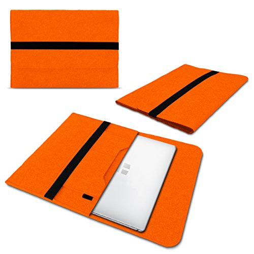 UC-Express Laptop Schutzhülle kompatibel für Trekstor Surftab Theatre 13,3 Sleeve Hülle Tasche aus Filz mit Innentaschen Cover Notebook Hülle, Farbe:Orange