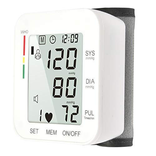 Blutdruck-Pulsmesser Tragbares Handgelenk Typ Elektrisches Blutdruckmessgerät Gesundheitswesen 99 Speicherset