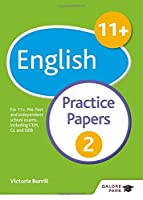 11+ English Practice Papers 2 by Victoria Burrill(2016-03-25)