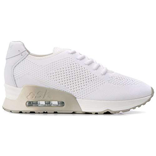 Ash Footwear Lucky Knit Zapatillas de Malla Blanco, Zapatillas Air Cushion, Zapatilla Transpirable Zapatillas de Mujer 39 Blanco