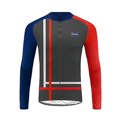 Uglyfrog Hiver Maillot de Cyclisme pour Homme Thermique Fleece Maillot de Vélo Manches Longues French National Team