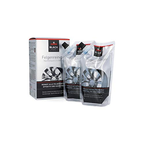 NIGRIN Black Label 72061 Felgenreiniger Nachfüllpack 2x 500 ml