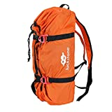 FREAHAP R Climbing Rope Bag Climbing Gear Bag for Mountaineering Ice Climbing Oxford Backpack with Rope Mat Orange