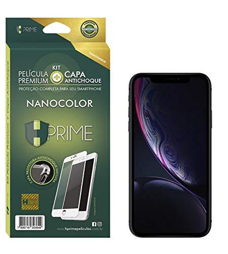 Kit Pelicula NanoColor + Capa Transparente TPU para Apple iPhone XR - Preto, HPrime, Película Protetora de Tela para Celular, Transparente