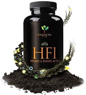 Alfa HFI Humic and Fulvic Acid By Enzacta. 30 capsules bottle.