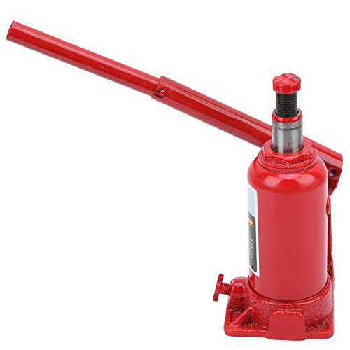 Cric-Bouteille Hydraulique 4 Tonnes Cric de Levage Hydraulique Robuste Cric Bouteille Hydraulique Stable Pratique pour Réparation de Voiture Rouge