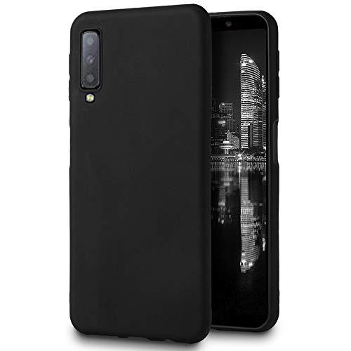 MyCase Funda Ligera para Samsung Galaxy A7 (2018)   Bumper  TPU en Negro   Resistente