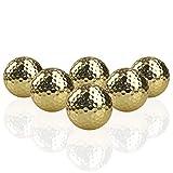 Crestgolf Golf Balls Placcato Oro della Sfera di Golf Oro Come Regalo, Due Pezzi d'oro Palline da Golf con 2 Pezzo torneo Golf Ball, Confezione da 6 Pezzi