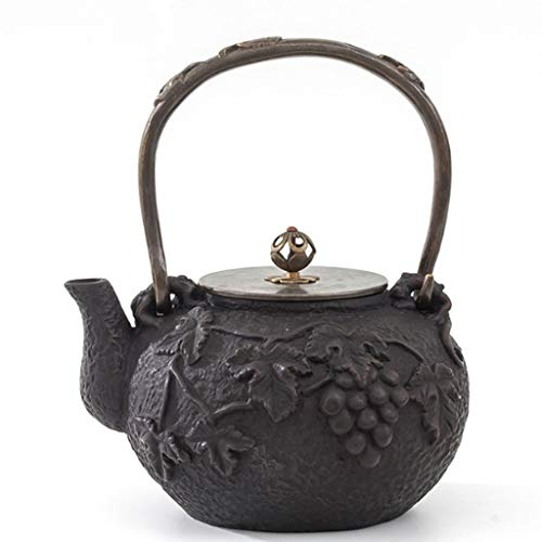 Cast Iron Tea Kettle High Temperature Cast Iron Teapot 1.2L Tea Pot Quality Craftsmanship Uncoated Boiling Water Tea Cast Iron Kettle