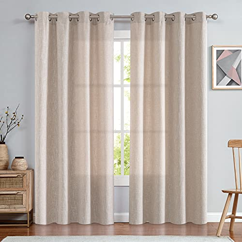 Burlap Linen Curtains