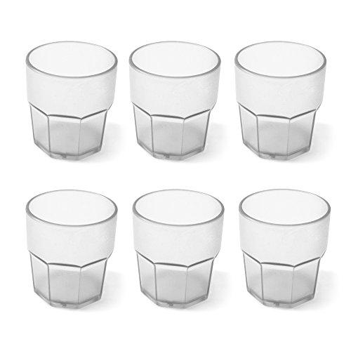 Cartaffini Agile Set 6 Bicchieri Infrangibili, Bianco, 8 cm, 6 unità