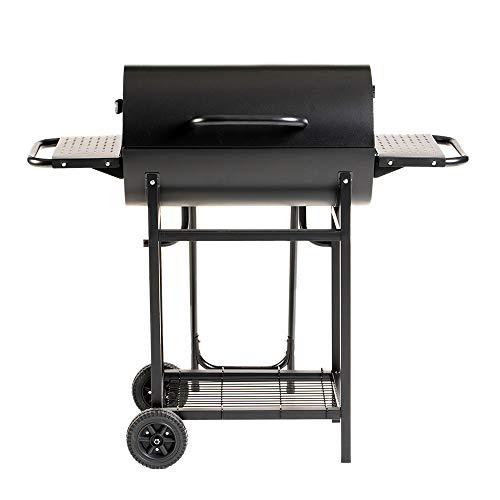 Enrico Coveri Barbecue a Carbone Rettangolare con Coperchio, 2 Piani Cottura e 3 Ripiani, Perfetto per Terrazzo, Balcone E Giardino