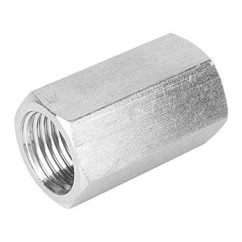 Tuerca hexagonal adaptador de varilla Fitting acero inoxidable rosca exacta para conexión de tubo de agua (1/4')