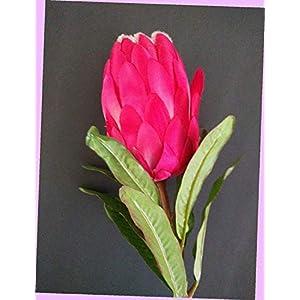 Artificial 24″ Protea Blossom Stem, Silk Floral Flowers Bouquet Realistic Flower Arrangements Craft Art Decor Plant for Party Home Wedding Decoration