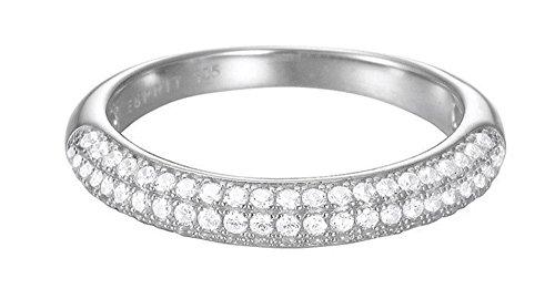 Esprit Essential Damen-Ring ES-GLAM rhodiniert Zirkonia transparent Gr. 57 (18.1) - ESRG02765A180