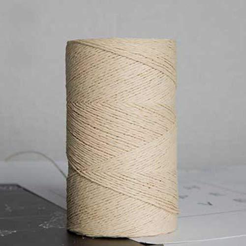 JUIC 500g / RollHilo de Paja de Rafia para Tejer a Mano Verano Sombrero de Paja Bolsos Hilo orgánico Crochet Hecho a Mano Material de Bricolaje, Beige