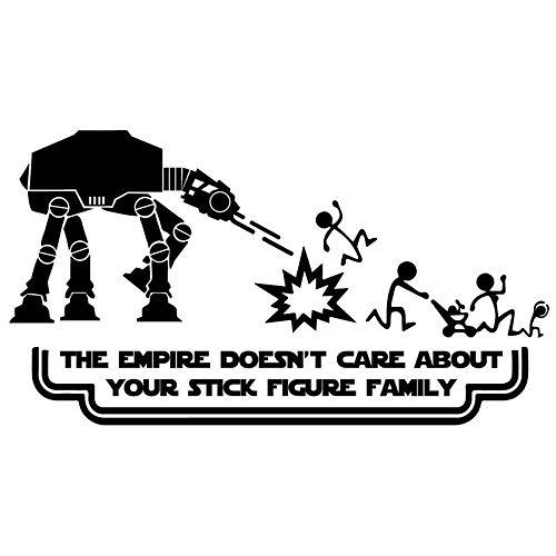 Lustige Star Wars Strichmännchen Familie Auto Styling Auto Aufkleber Abziehbilder Grafiken Abziehbilder