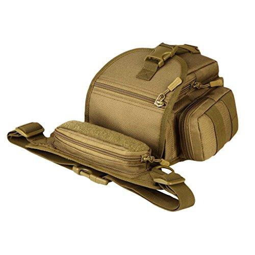 MagiDeal Sac à Bandoulière Étanche Sacohe de Taille Sports Camouflage Dessin Sportif Bagage Vêtement - Color #1, comme décrit