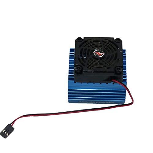 Nrpfell Radiador de Motor de Coche RC 1: 8 + 5V Traje de Montaje de Ventilador de RefrigeracióN para Motor 4465 3665/3674