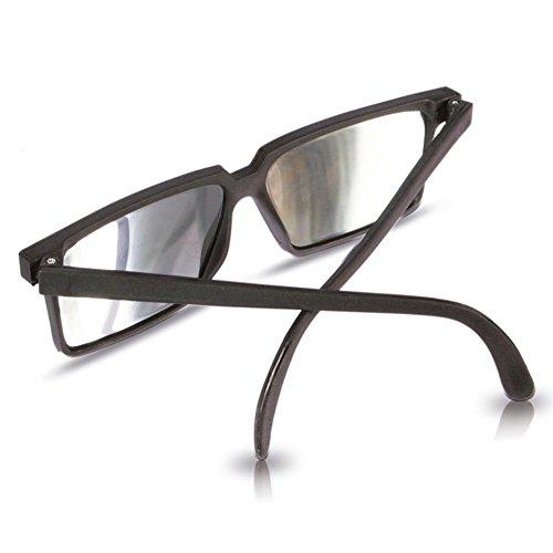 Spy Glasses- Gafas de Espionaje de plástico, con Espejo en la Montura, Color Negro (H3525262)