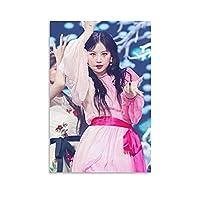 GIDLE Kpopポスタースジン舞台はピンクのドレス ウォールアート キャンバス 印刷 画像 ポスター 壁の絵 壁掛け 壁飾り 誕生日ギフト ホーム装飾12x18inch(30x45cm)