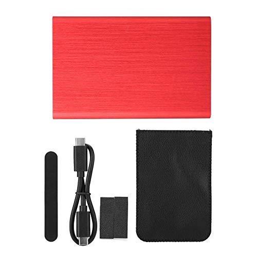 Mobil USB-låda, 10G BPS hållbar hårddiskhölje, aluminiumlegering bärbar för företag för 98 / SE/ME / 2000 / XP / 7/8/10 (röd)