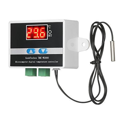 KKmoon TMC-W2000 AC110-220V Temperatura Controlador LCD Digital Termostato Alto Precisión con Impermeable Sensor Sonda
