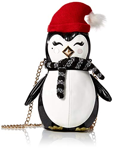 Betsey Johnson Damen Crossbody Bag Penguino Umhängetasche, schwarz/weiß, Einheitsgröße