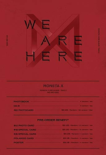 Starship Entertainment Monsta X - We Are Here [II Ver.] (Vol.2 Take.2) 1CD+134p Photobook+2Photocard+Folded Poster+Double Side Extra Photocards Set