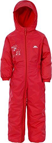 Trespass Kids' Waterproof Drip Drop Outdoor Rain Suit, Signal Red, 3-4 Years