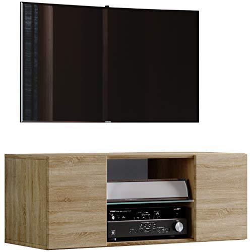 VCM TV Schrank Lowboard Tisch Board Fernseh Sideboard Wandschrank Wohnwand Holz Sonoma-eiche 40 x 95 x 36 cm