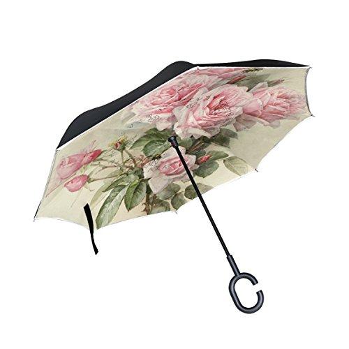 ISAOA Paraguas Grande invertido Paraguas Resistente al Viento Doble Capa Reversible Plegable...
