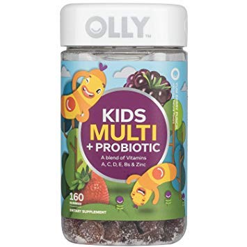 OLLY Kids Multivitamin and Probiotic Gummy Supplement, with Zinc & PROBIOTICS; Yum Berry Punch; Multi +Probiotic