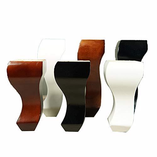 Furniture Leg Patas De Armario Patas De Sofá De Madera Patas De Repuesto 15/18/20 Cm con Tornillos, Juego De 4
